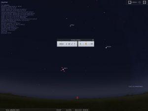 Simulación del cielo de octubre