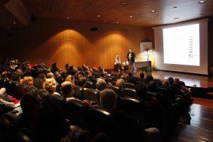 Javier Ablanque en el Auditorio del Museo de la Ciencia de Valladolid