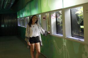 La estudiante Julia Arranz Herrero en la Casa del Río