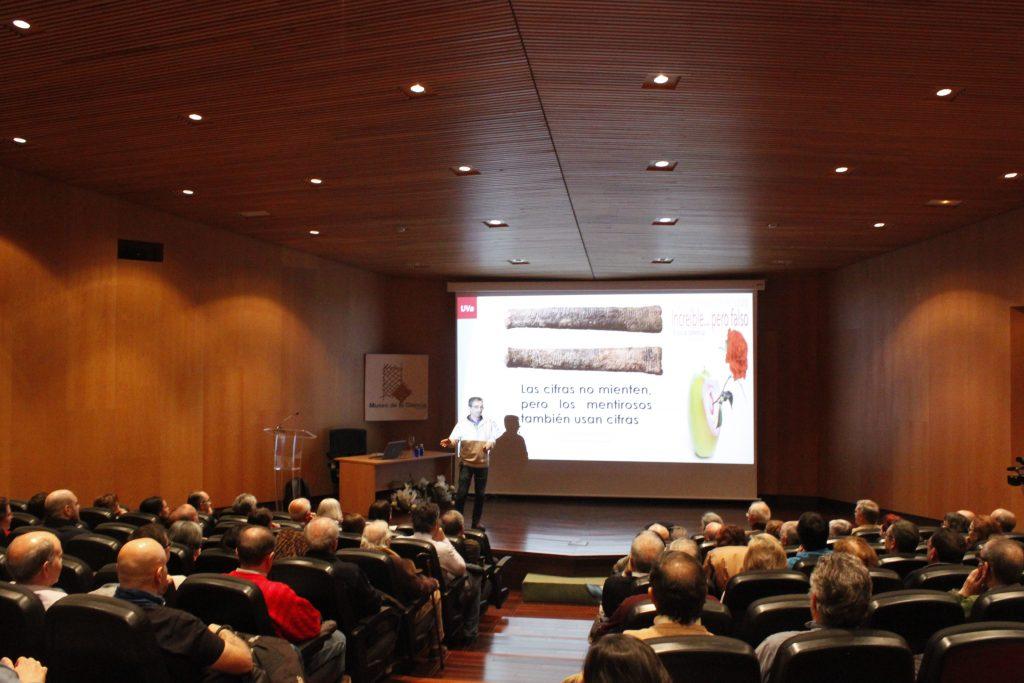 José María Marbán, durante la charla