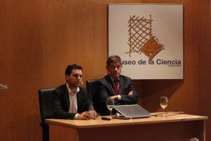 José María Eiros  e Iván Sanz durante la charla.