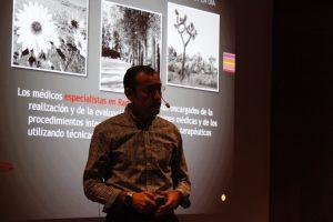 Israel Sánchez Lite durante su charla