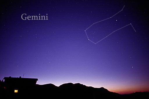 Constelación de Géminis. / Wikipedia, AlltheSky.com