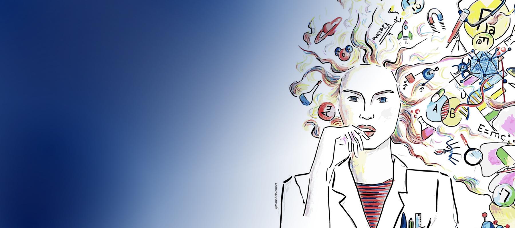 banner día mujer y niña en ciencia