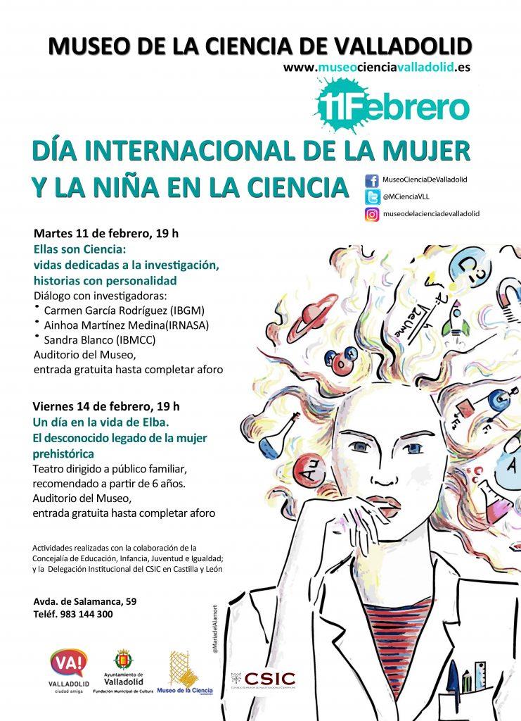 cartel mujer y niña ciencia 2020