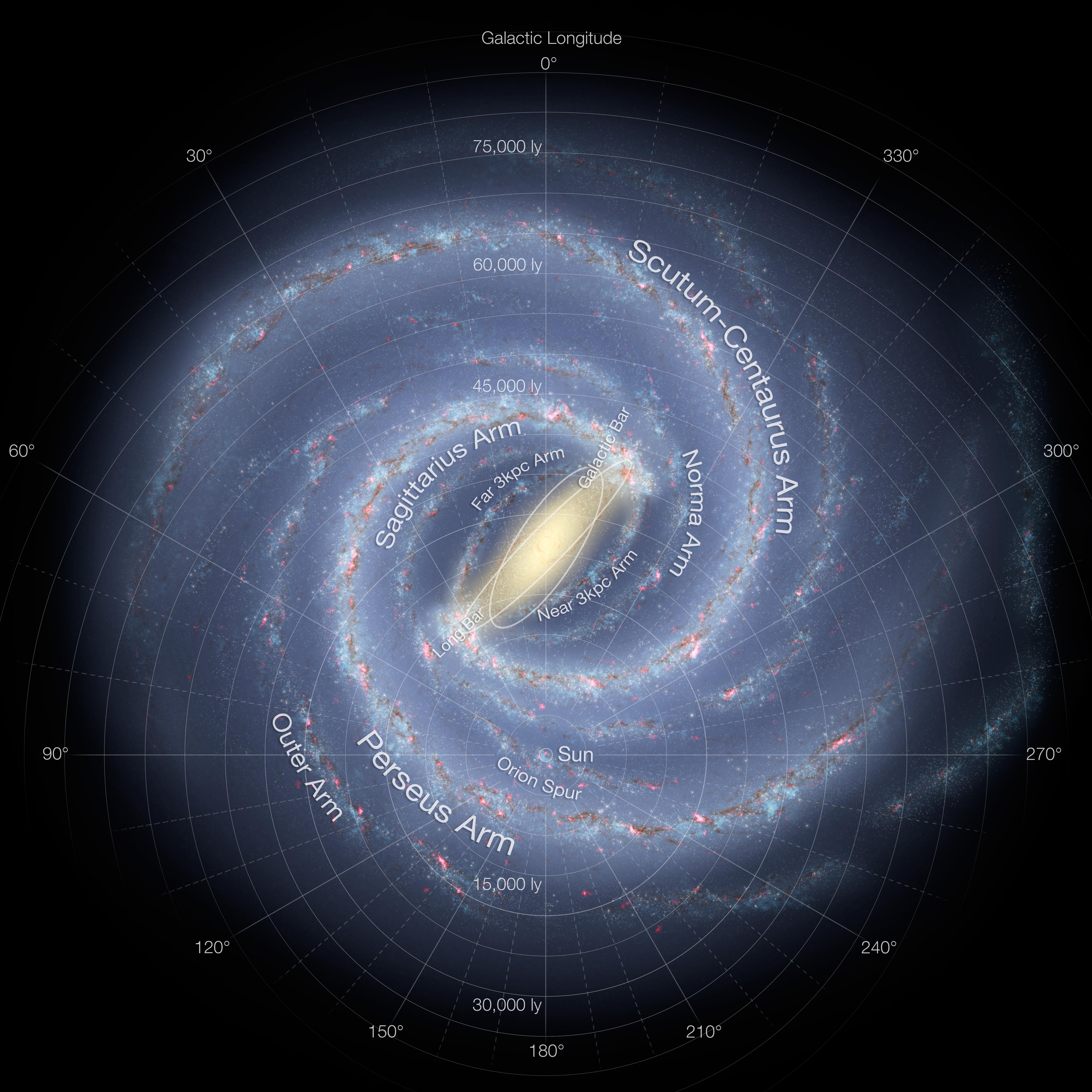 Mapa de la Vía Láctea/ Wikipedia