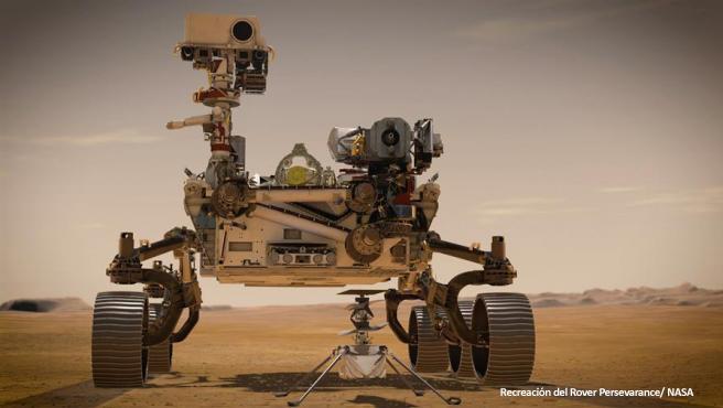 Recreación del rover perseverance/ NASA